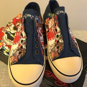 New With Box Size 9 Ed Hardy Sneakers